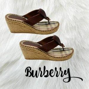 Authentic burberry thong Espadrilles sandal